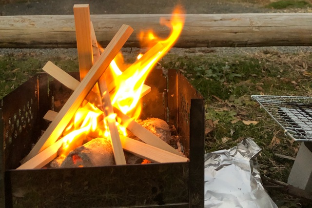 キャンプや焚き火の趣味友